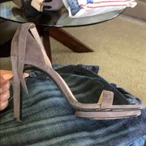 """Taupe 4"""" high heel sandals"""